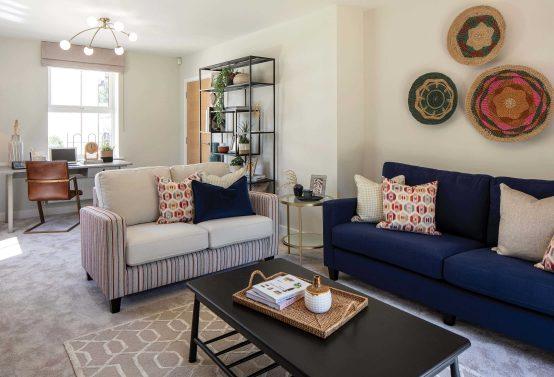 Longston Cross Bovey Tracey Show Home Living Room